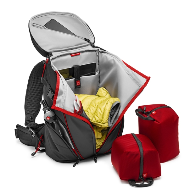 Action_Camera_Backpack_MB OR-ACT-BP_open with pouches